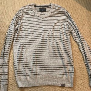Grey on Grey Striped Crewneck sweater